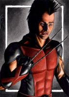 Daken - Dark X-Men Sketch Card by J-Redd
