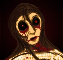 Weeping Woman Dressed In Red by InvisibleCorpseGirl