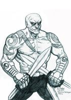 Daily Sketches Drax the Destroyer by fedde