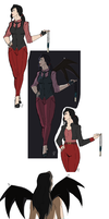 Asami Vampire AU drawings by JustiCmo