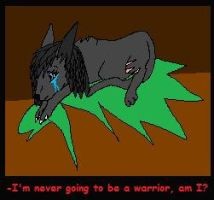 Warrior Doodle: Never going to be a warrior by xX-NIGHTBANEWOLF-Xx