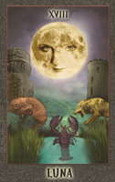 Luna tarot card by zimdrake