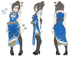 Mei from OverWatch in Qi Pao by onlineworms