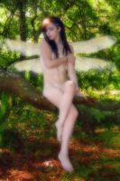 Beautiful Nude Forest Fairy by csp-media