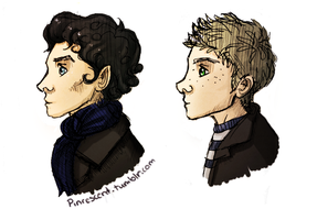 BBC Sherlock and John by Pinrescent