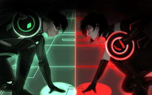 Tron Legacy x SNK crossover by Jellatine