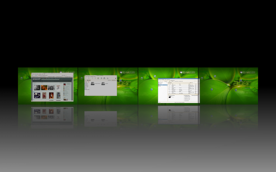 Desktop with Compiz fusion by wedderburn