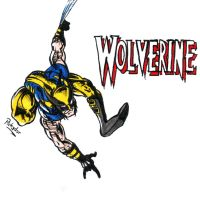 Spidey pose Wolverine by Pickador