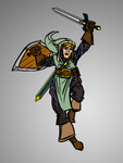 Crusader Link sketch by cheddarpaladin