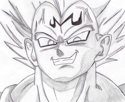 Majin Vegeta drawing by RazorShadowZ