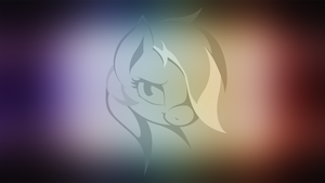 Rainbow Dash minimalistic wallpaper (black-white) by AvareQ