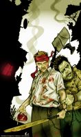 SHAUN AND ZOMBIE ED by angelgaby
