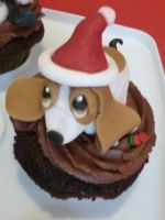 Basset Hound cupcakes (Basset number 3) by Marce07