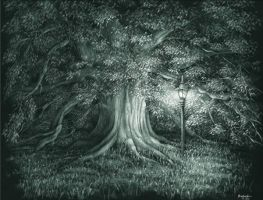 Century Tree by AndreaWidgetArt