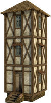 Medieval Tower 1B | PNG by fumar-porros