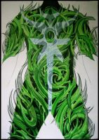 biomechanical green monster. by sideusz