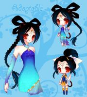 Chinese Black Tiger Girl 2 by LittleRueKitty