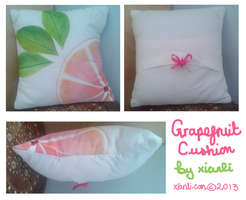 Grapefruit Cushion by xian-li