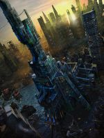 Human city. Tower by unisaul