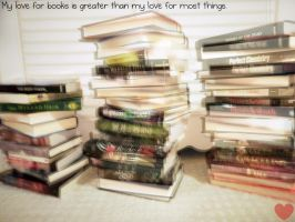 my love for books.. by xox-Brittany-xox