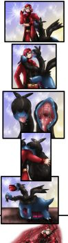 COM -Maxie and Zweilous- vore by NovaSword