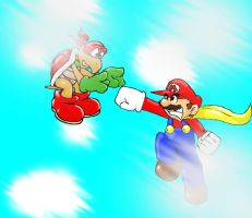Super Mario Vs kooper bro red by Mustashio