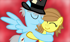 Newsworthy Hugging Filly Gingersnap by XxGinger-The-StarxX