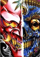 Hannya and NepalSkull by GustavoAragao
