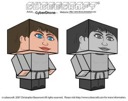 Cubeecraft - Susan Foreman by CyberDrone