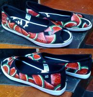 Summer watermelon custom shoes by Gohush