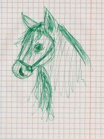 Just a horse sketch by IcelectricSpyro