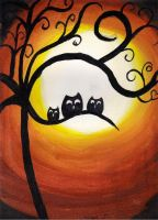 Owls Painting by Pennylane146