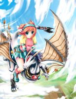 .:One who rides dragons:. by yuki-hoshime