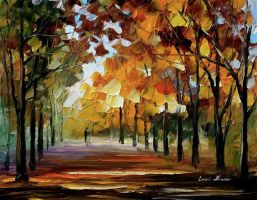 Silence of the fall by Leonid Afremov by Leonidafremov