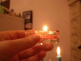 Holding a candle-thingy by Duchesse2