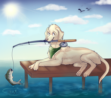 fishing is the bomb yo by sweet-shop
