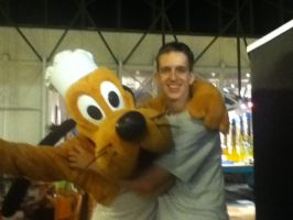Myself with Pluto by Mike-The-Winner