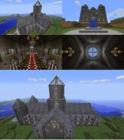 minecraft cathedral by marines-orks
