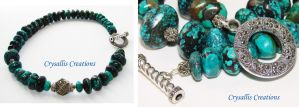 Turquoise and Marcasite by CrysallisCreations