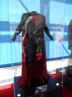 Man of Steel costume on display at NYC Comic Con by FUBARProductions