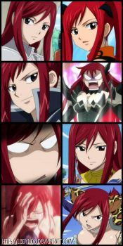 erza collage by LadyNoa