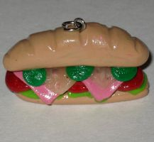 Polymer clay - sub sandwich by SarahRose