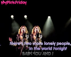 There's two more lonely people by MyPinkFriday