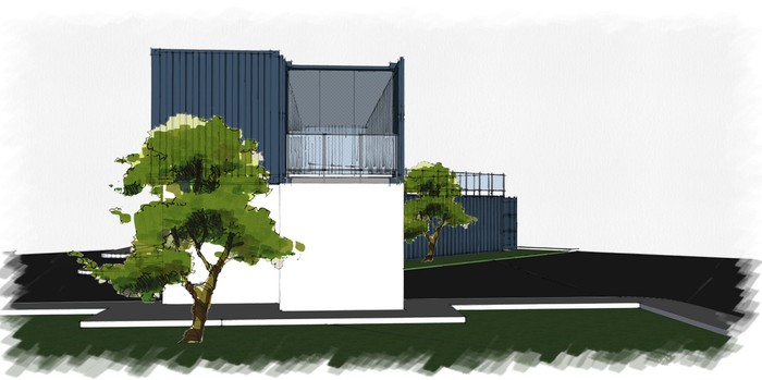 Container Home - Lateral view by saescavipica