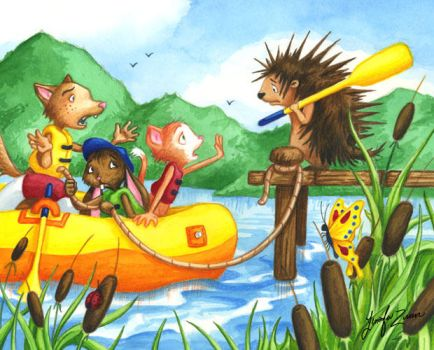 Porcupine at Summer Camp by Isynia-Artessa