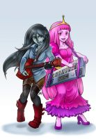 Bubblegum And Marceline poster by Dark-Merchant