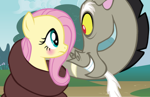 Discord And Fluttershy. by floppy-fluttercord