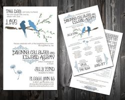 Wedding Invitations and Programs by DrYaDdEsIgN