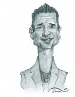 Dave Gahan Caricature Sketch by StDamos