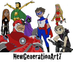 Teen Titans as Avengers by NewGenerationArt7